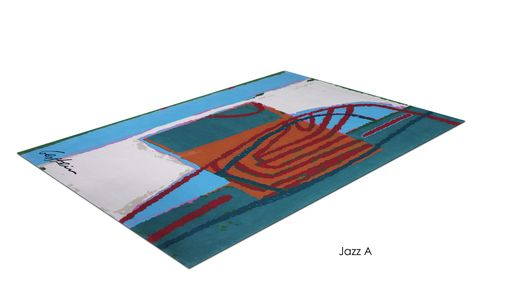 "Custom Made ""Jazz A"" Inspired By Israeli Artist, David Gerstein- Custom Rugs Collection By Allure Rug."