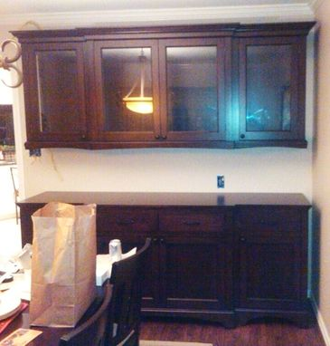 Custom Made Dark Cherry Sideboard & China Cabinet