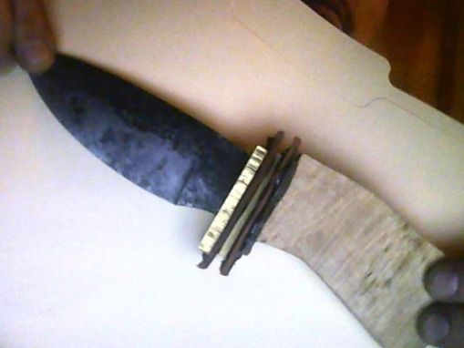 Custom Made Knife In Process