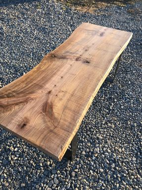 Custom Made Live Edge Figured Maple Coffee Table