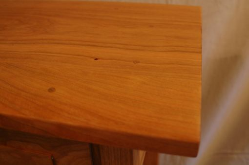 Custom Made Cherry Shaker Style Nightstand / End Table With Drawer And Shelf