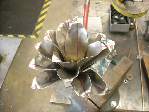 Custom Made Steel Poinsettias