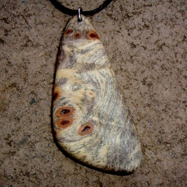 Custom Made Wood Pendant Of Buckeye Burl