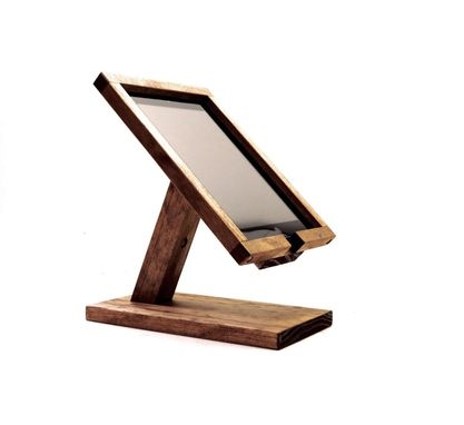 Custom Made Woodwarmth Ipad Stand Fully Enclosed