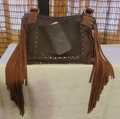 Custom Made Leather Fringe Bohemian Cross Body Bag ~ Western Fringe Bag