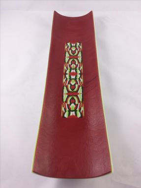 Custom Made Channel Tray - Pattern Bar Channel - Red