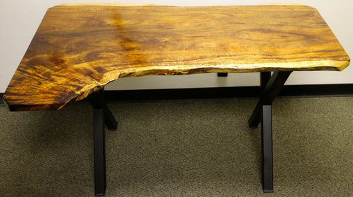 Custom Made Live Edge Black Acacia Desk