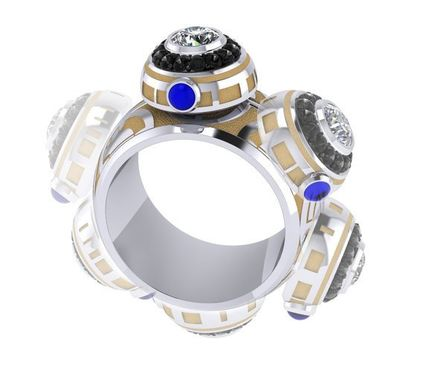 Custom Made The Ultimate Bb Spinner Ring- Gents
