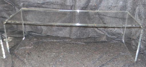 Custom Made Acrylic Waterfall Edge Coffee Table - Hand Crafted, Made To Order: Custom Sizing Never A Problem