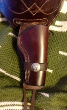 Custom Made Cowboy Style Matched Set Of Gun Belts And Holsters