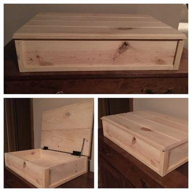 Custom Made Knotty Pine, Rustic Keepsake Box