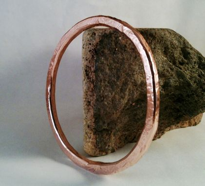 "Custom Made 7-Gauge Copper Bangle ""Pine''"