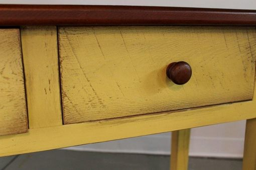 Custom Made Yellow Huntboard From Reclaimed Pine