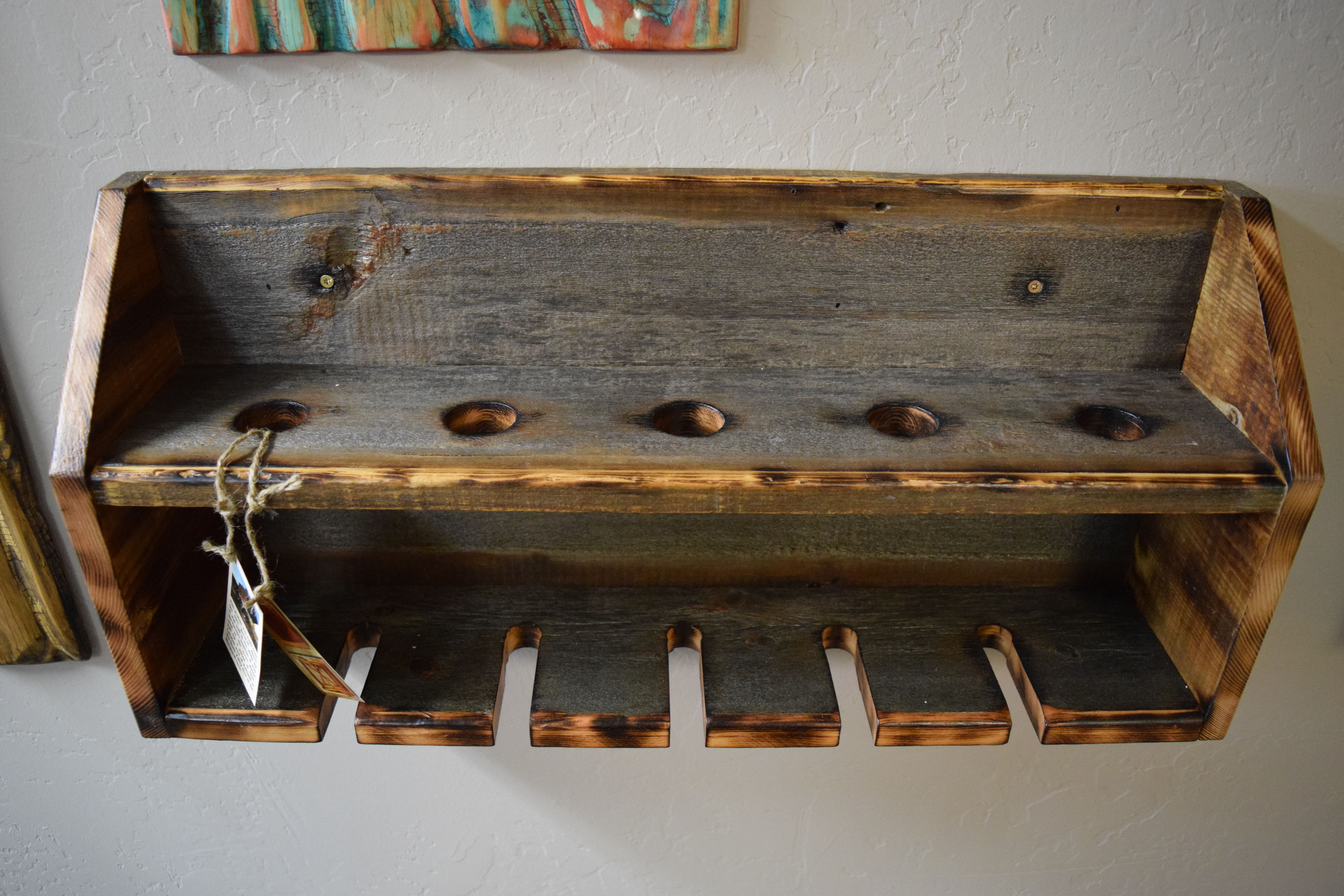 A Handmade Barn Wood Wine Rack Made To Order From Montana Stone Carving Custommade Com