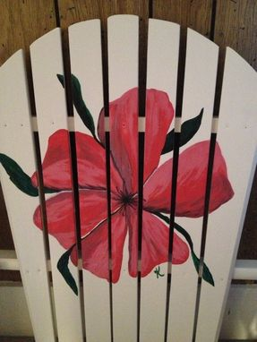 Custom Made Hand Painted Adirondack Chair