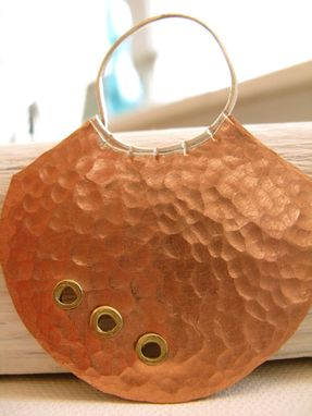 Custom Made Tribal Hoops - Hammered Copper