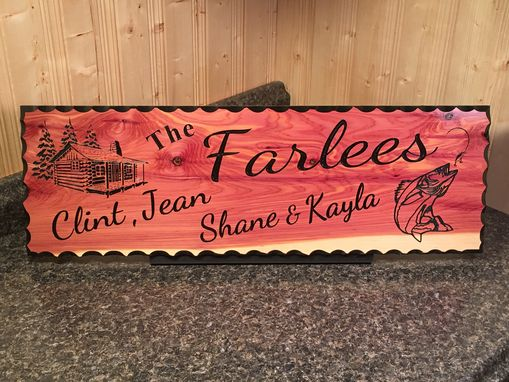 Custom Made Personalized Family Name Sign Custom Carved Cedar Wood Plaque