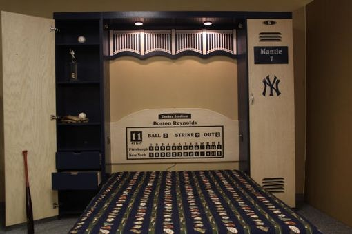 Custom Made Locker Room Murphy Wall Bed