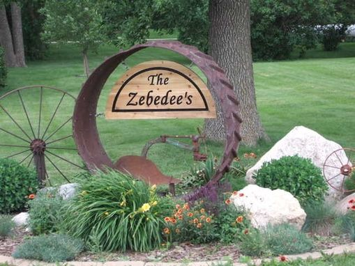Custom Made Tractor Wheel Sign