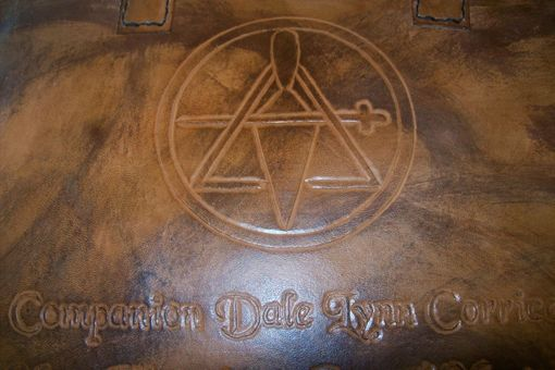 Custom Made Custom Leather Mason Case With York Rite Symbol And Personalization