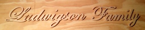 Custom Made Cursive Name Sign, Black, 24in X 6in