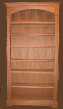 Custom Made Unfinished Or Finished Mahogany Bookshelf