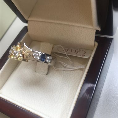 Custom Made Geeky Engagment Rings Zora Sapphire 14k White And Yellow Gold Legend Of Zelda Engagement Ring