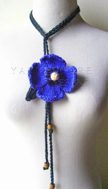 Custom Made The Spring Pansy Lariat In Blue