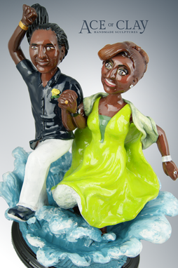 Custom Made Deluxe Custom Sculpture - Complex Arrangement With 1 Or More Figurines & Large Prop Or Base
