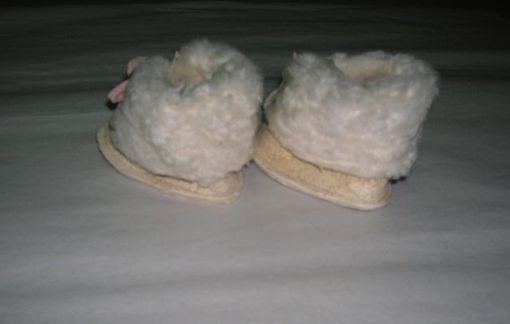 Custom Made Baby-Infant Booties Wool