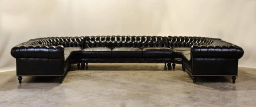 Custom Made Custom U Shaped Chesterfield Sectional With Radius Corners