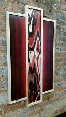 Custom Made Wood Dye On Wood Panel Painting