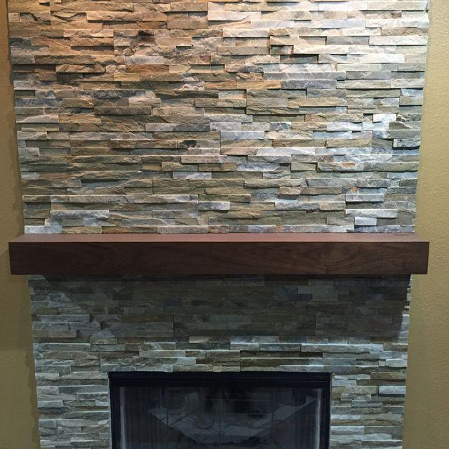Buy A Handmade Walnut Modern Fireplace Mantel Walnut Mantle Made
