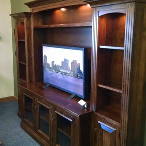 Berlin Entertainment Center Wall Unit In Brown Maple