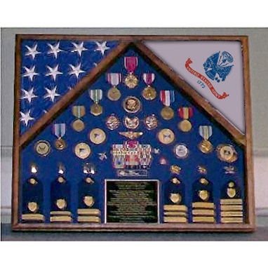 Custom Made Army 2 Flag Shadow Box/Display Case