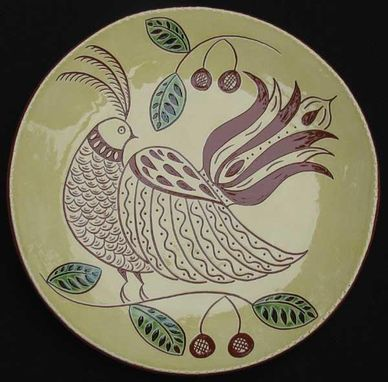 Custom Made Ceramic Plate With A Bird