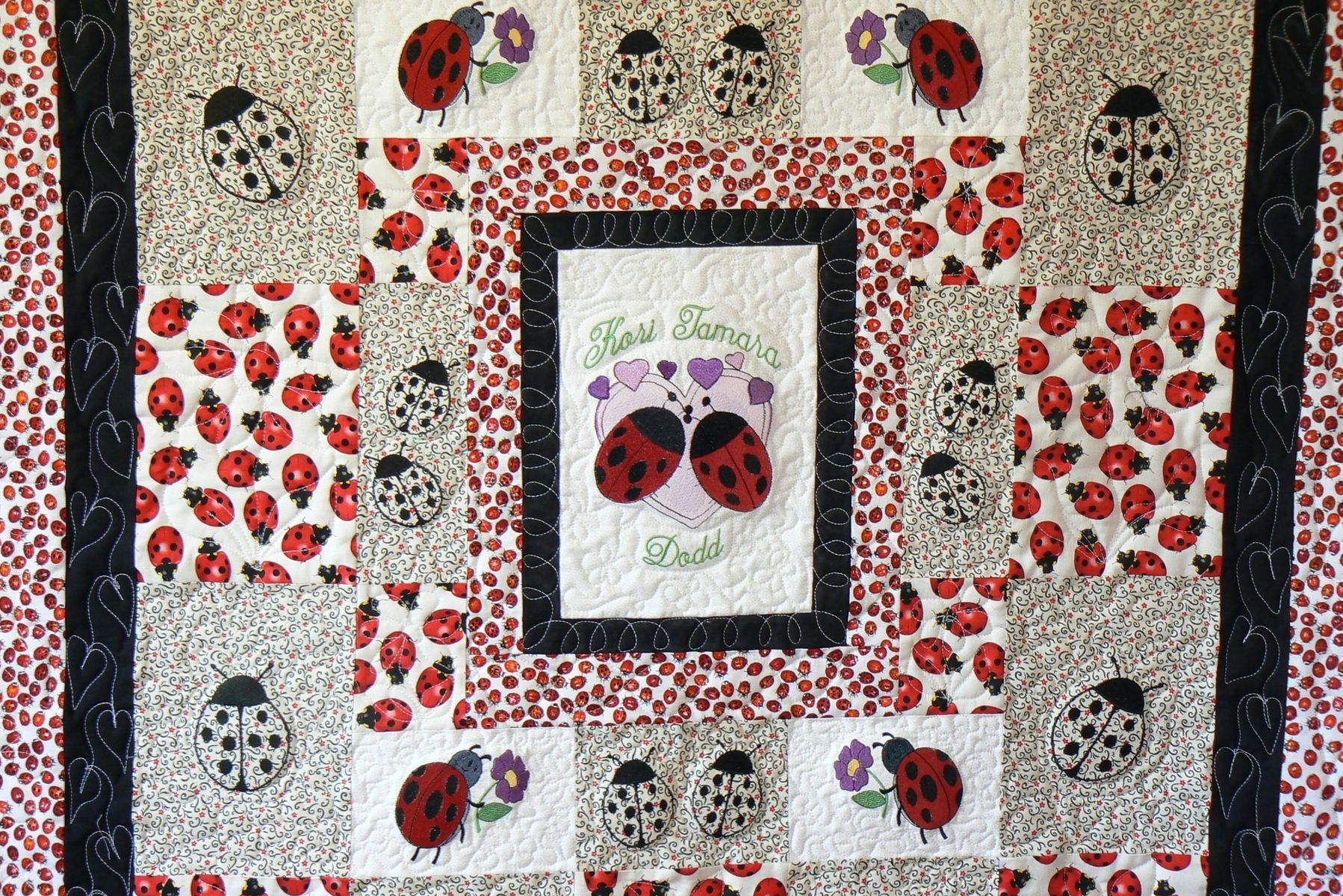 Hand Made Custom Lady Bug Baby Quilt By Arlene S Quilts