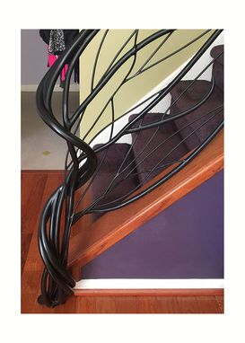 Custom Made Custom Wrought Iron Hand Rail