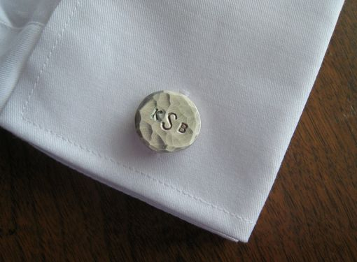 Custom Made Monogrammed Cuff Links Cufflinks In Fine Silver
