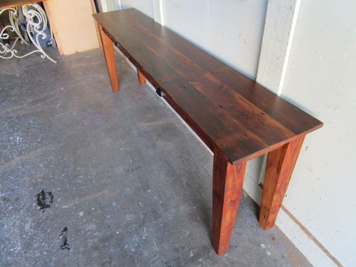 Custom Made Sofa Table From Reclaimed Wood Custom Made In The Usa