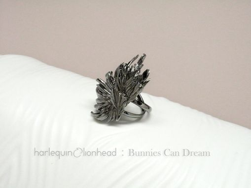 Custom Made Whirls Collection - No. 1 Ring Black Gold Plated