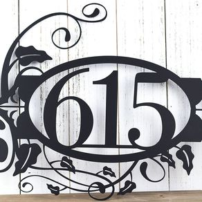 House Numbers Metal Sign Custom Number Address Wall Art