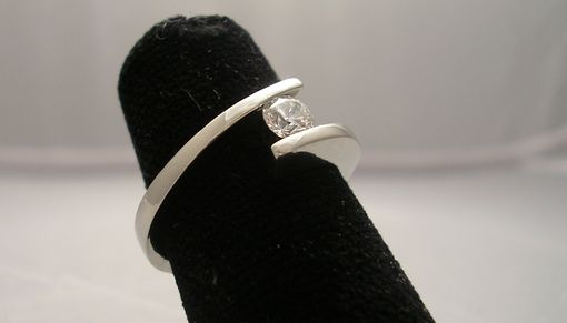 Custom Made Tension Set Ring White Gold 14k
