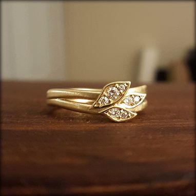 Custom Made Leaf And Branch Diamond Ring
