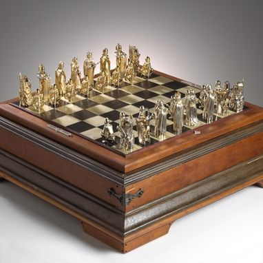 Custom Made Gold Chess Set No 1 Of 12 Circa 1972 By J