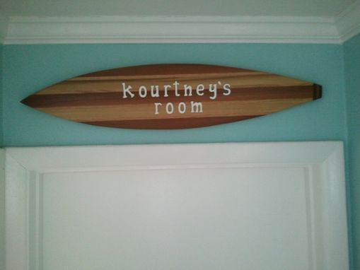 Custom Made Surfboard Name Signs