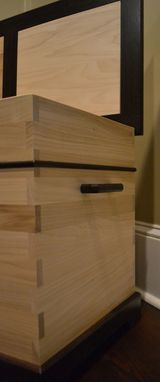 Custom Made Wenge & Poplar Blanket Chest