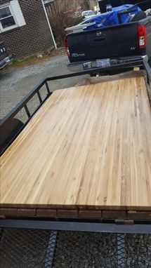 Custom Made White Oak Kitchen Island Top