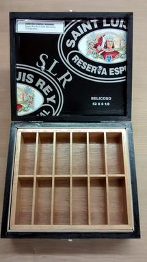 Custom Made Jewelry/Keepsake/Tackle Box Made From Saint Luis Rey Reserva Especial Cigar Box
