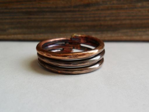 Custom Made Brass Triple Band Ring